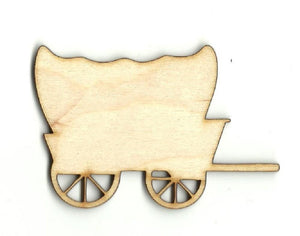 Covered Wagon - Laser Cut Wood Shape Wgn6 Craft Supply