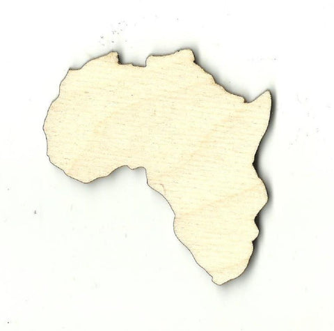 Africa - Laser Cut Wood Shape Wld26 Craft Supply