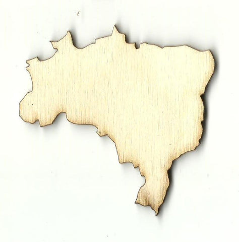 Brazil - Laser Cut Wood Shape Wld57 Craft Supply
