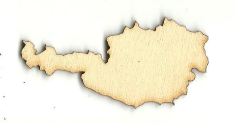 Austria - Laser Cut Wood Shape Wld64 Craft Supply