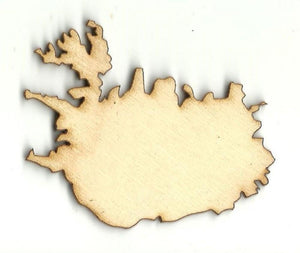 Iceland - Laser Cut Wood Shape Wld66 Craft Supply