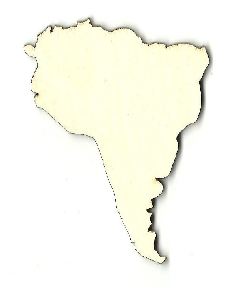 South America - Laser Cut Wood Shape Wld8 Craft Supply