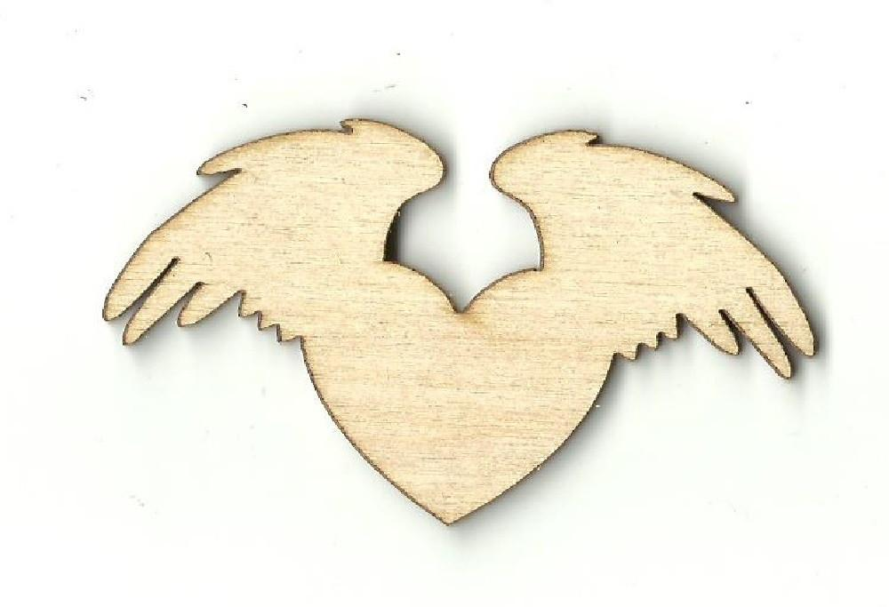 Heart With Wings - Laser Cut Wood Shape Wng11 Craft Supply