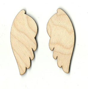 Wings - Laser Cut Wood Shape Wng2 Craft Supply