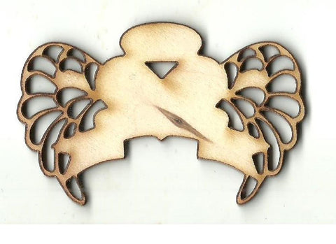 Winged Heart - Laser Cut Wood Shape Wng6 Craft Supply
