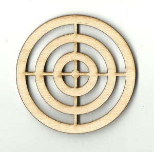Target - Laser Cut Wood Shape Wpn11 Craft Supply