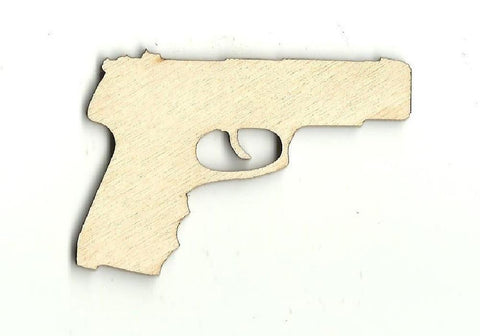 Gun - Laser Cut Wood Shape Wpn12 Craft Supply