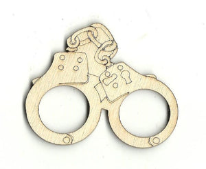Handcuffs - Laser Cut Wood Shape Wpn16 Craft Supply