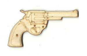 Gun - Laser Cut Wood Shape Wpn18 Craft Supply