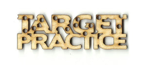 Target Practice - Laser Cut Wood Shape Wpn2 Craft Supply