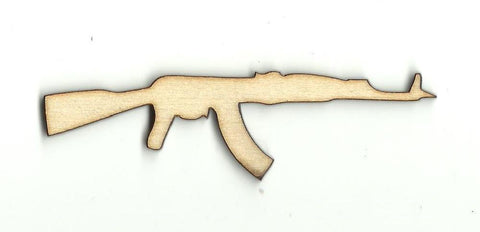 Machine Gun - Laser Cut Wood Shape Wpn57 Craft Supply