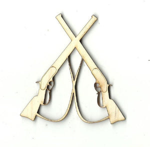 Crossed Rifles - Laser Cut Wood Shape Wpn49 Craft Supply