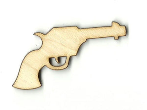 Pistol Gun - Laser Cut Wood Shape Wpn48 Craft Supply