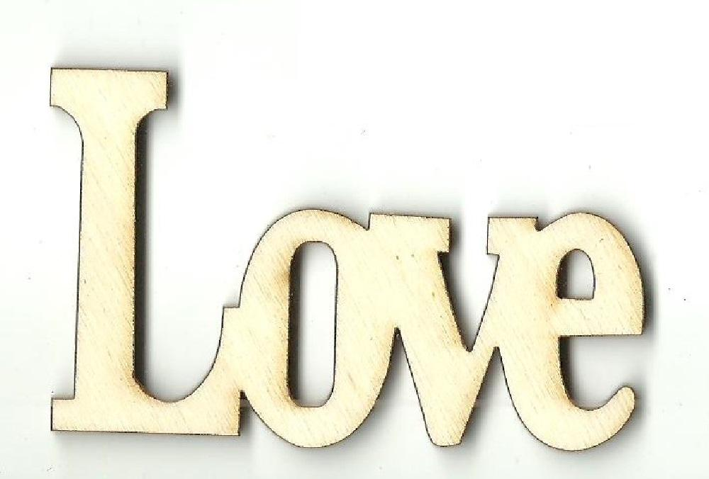 Love - Laser Cut Wood Shape Wrd109 Craft Supply