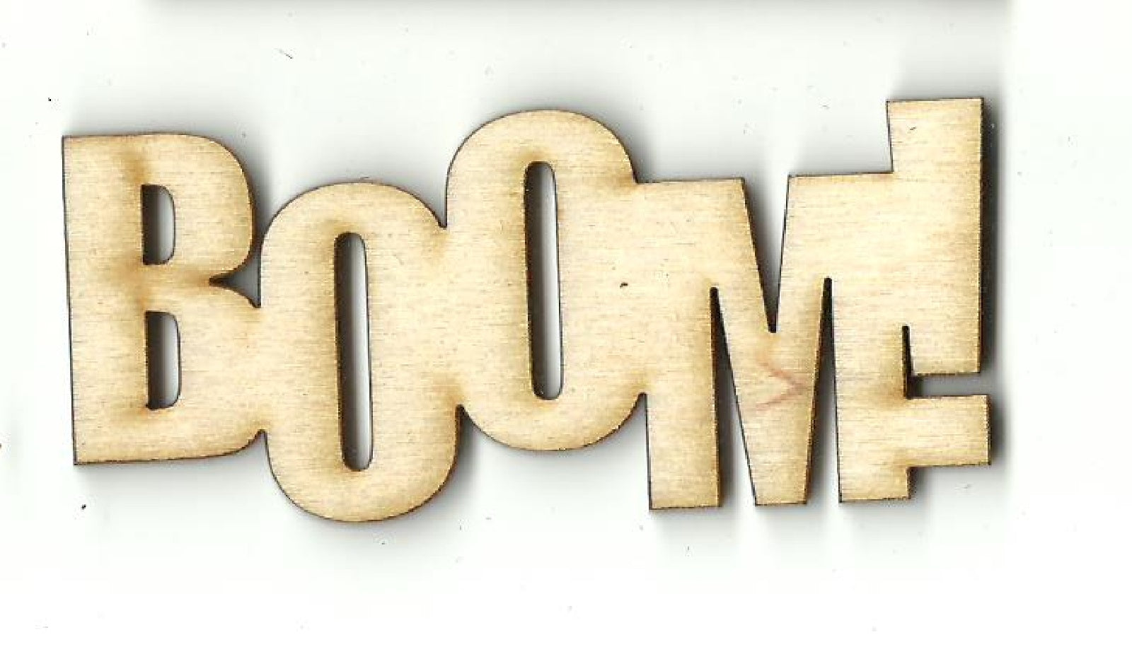 Boom - Laser Cut Wood Shape WRD133