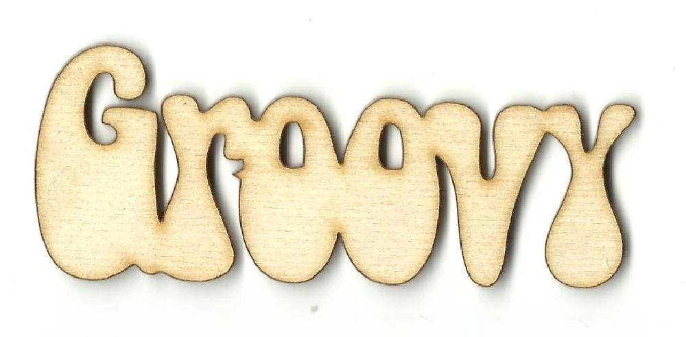 Groovy - Laser Cut Wood Shape Wrd97 Craft Supply