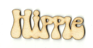 Hippie - Laser Cut Wood Shape Wrd90 Craft Supply