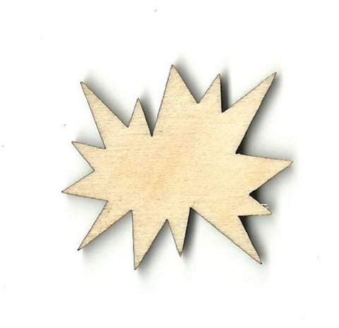 Comic Word Splat - Laser Cut Wood Shape Wrd87 Craft Supply