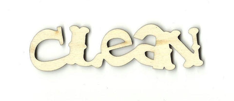 Clean - Laser Cut Wood Shape Wrd19 Craft Supply