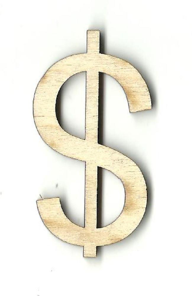 $ Dollar Sign - Laser Cut Wood Shape Wrd79 Craft Supply