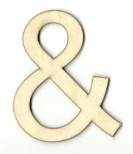 & And Sign - Laser Cut Wood Shape Wrd74 Craft Supply