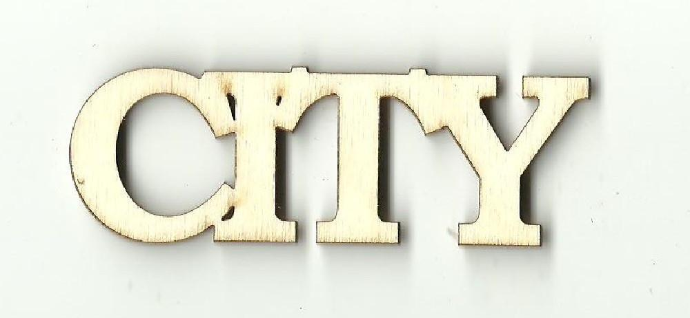 City - Laser Cut Wood Shape Wrd26 Craft Supply