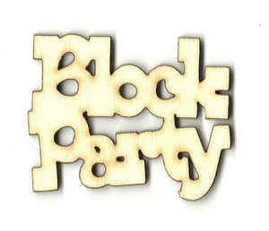 Block Party - Laser Cut Wood Shape Wrd35 Craft Supply