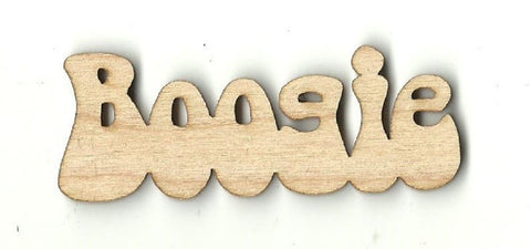 Boogie - Laser Cut Wood Shape Wrd51 Craft Supply