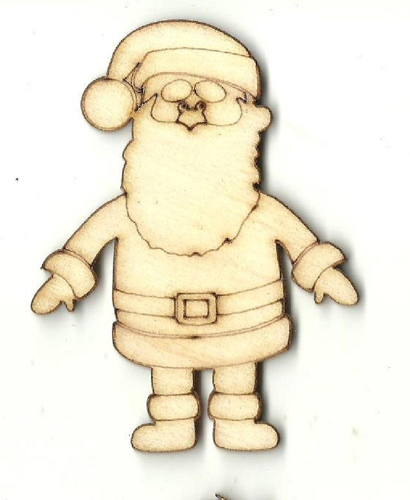 Santa Claus - Laser Cut Wood Shape Xms112 Craft Supply