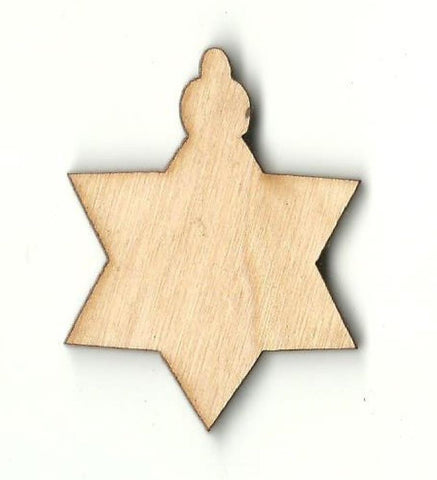 Christmas Star Ornament - Laser Cut Wood Shape Xms141 Craft Supply