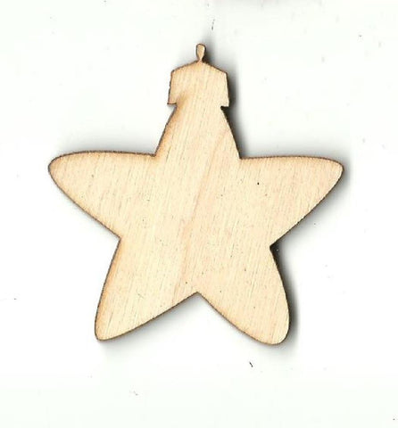 Christmas Star Ornament - Laser Cut Wood Shape Xms142 Craft Supply