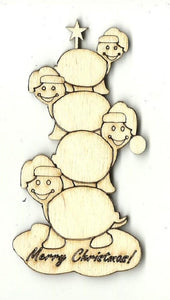 Christmas Turtles - Laser Cut Wood Shape Xms165 Craft Supply
