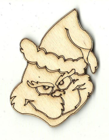 Grinch - Laser Cut Wood Shape Xms166 Craft Supply