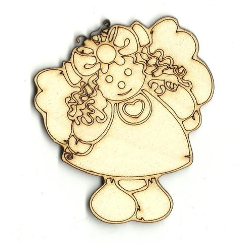 Angel - Laser Cut Wood Shape Xms16 Craft Supply