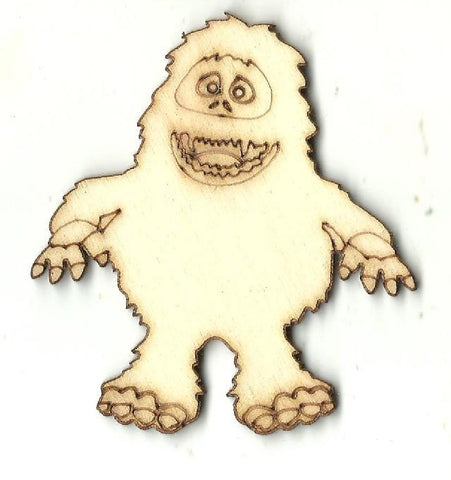 Abominable Snowman - Laser Cut Wood Shape XMS173