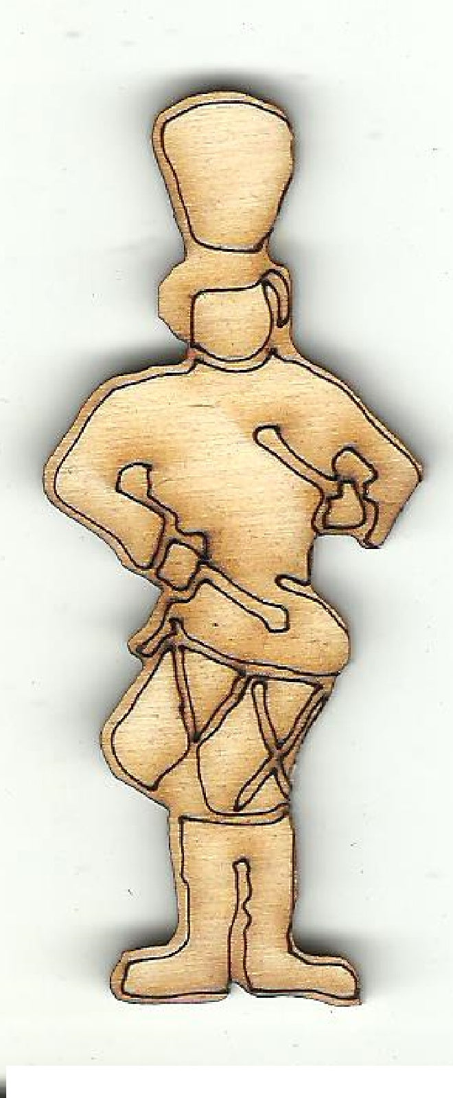 Drummer Drumming - Laser Cut Wood Shape XMS202