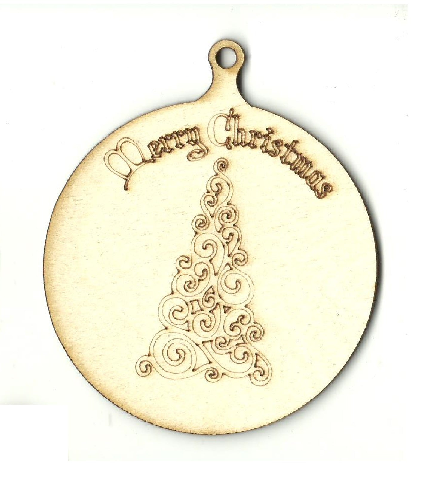 Christmas Tree Ornament - Laser Cut Wood Shape XMS210