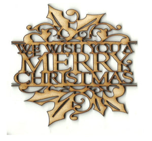 Merry Christmas  - Laser Cut Wood Shape XMS257