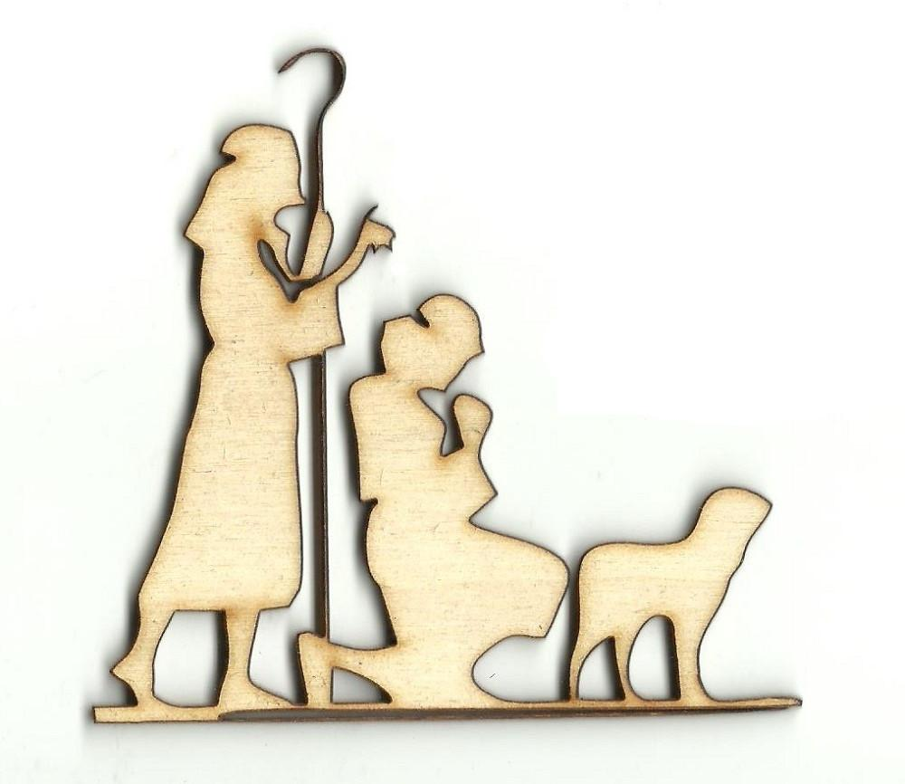 Shepherds - Laser Cut Wood Shape Xms131 Craft Supply