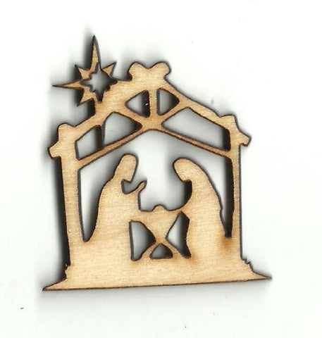 Nativity Scene - Laser Cut Wood Shape Xms152 Craft Supply