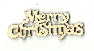 Merry Christmas - Laser Cut Wood Shape Xms45 Craft Supply