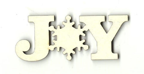 Joy Snowflake - Laser Cut Wood Shape Xms47 Craft Supply