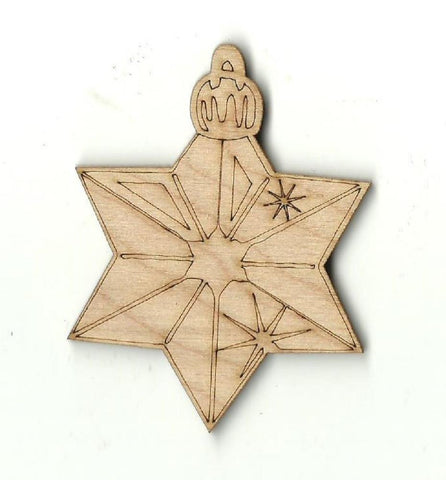 Christmas Ornament - Laser Cut Wood Shape Xms48 Craft Supply