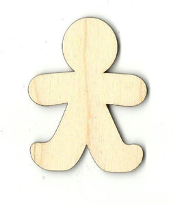 Gingerbread Man Cookie - Laser Cut Wood Shape Xms147 Craft Supply