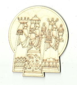 Three Wise Men - Laser Cut Wood Shape Xms146 Craft Supply
