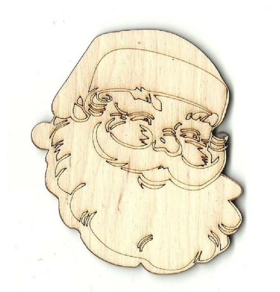 Santa Claus - Laser Cut Wood Shape Xms65 Craft Supply