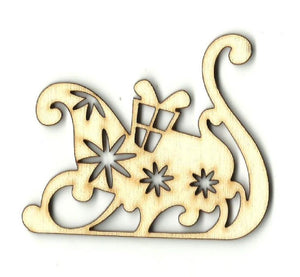 Sleigh - Laser Cut Wood Shape Xms77 Craft Supply