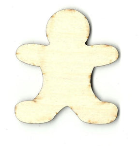 Gingerbread Man Cookie - Laser Cut Wood Shape Xms79 Craft Supply