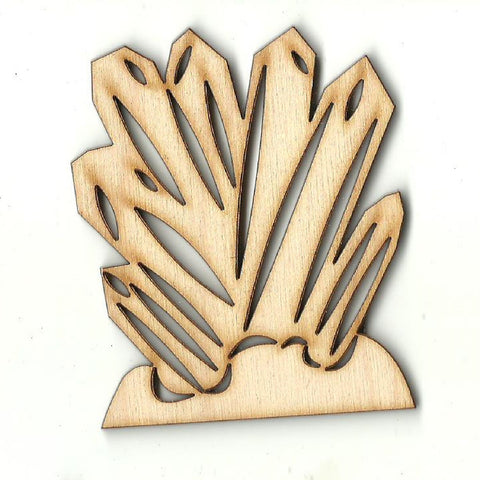 Crystals - Laser Cut Wood Shape XTR103