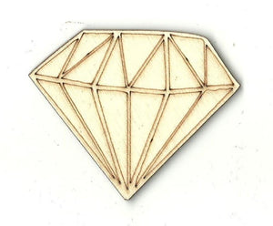 Diamond - Laser Cut Wood Shape Xtr17 Craft Supply